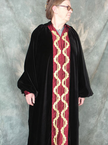 Front of the gown