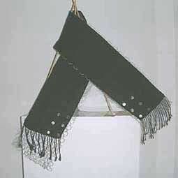black double shawl med silver coins